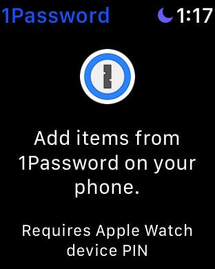 1passwordをApple Watchで使うにはパスワード設定を有効にする