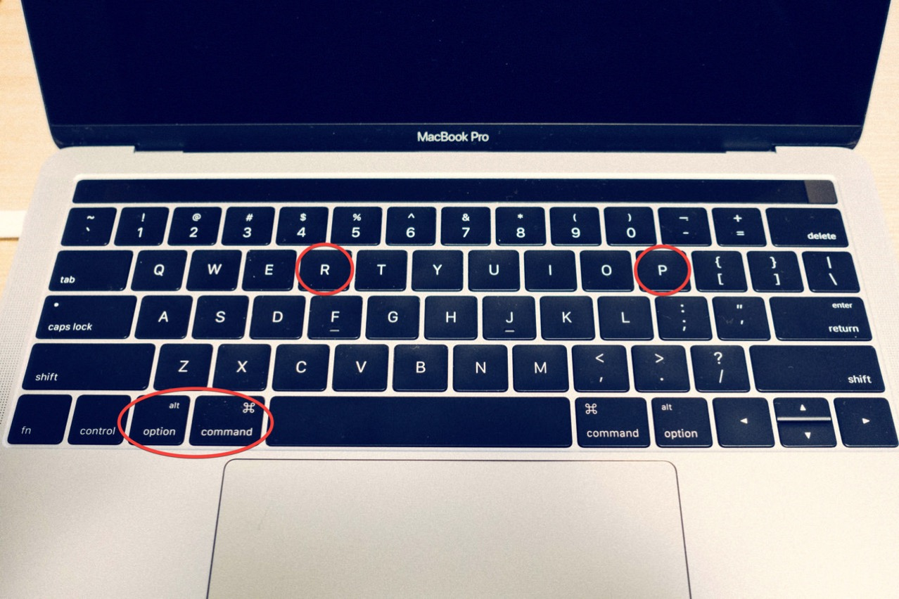 Nvram touch bar macbook pro1