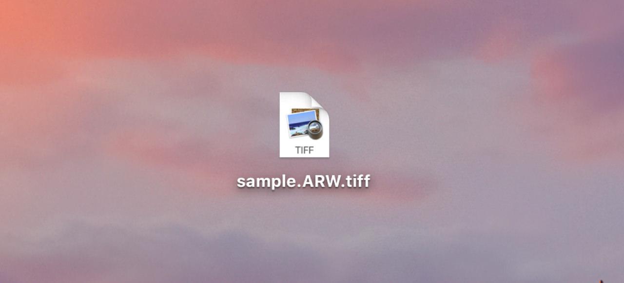 SafariでダウンロードしたRAWにTIFFの拡張子が自動で付く