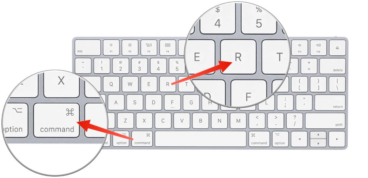 macOS 復元 のキーを押す